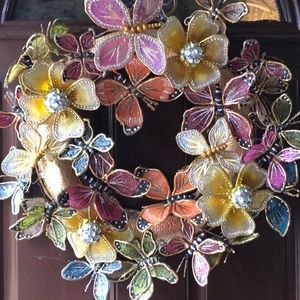 Pier 1 butterfly door wreath